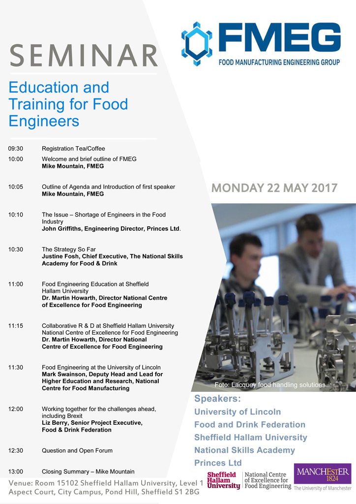 Education and Training for Food Engineers